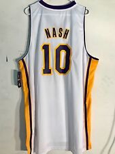 Adidas Swingman NBA Jersey Lakers Steve Nash White Alternate sz 2X
