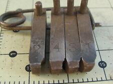 """Set/4 Pipe Threading Dies #10 + 10A 3/8""""x5/8""""x2-1/8 """"ea.(Trade T Mark) w4 pins"""