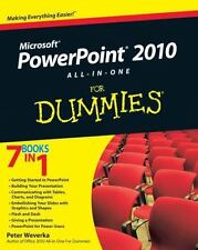 PowerPoint 2010 All-in-One For Dummies, Weverka, Peter, Good Condition, Book