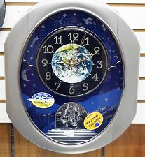 RHYTHM MUSICAL  WALL CLOCK -PEACEFUL COSMOS II WITH 30 MELODIES 4MH408WU19