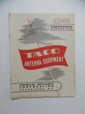1949 TACOVISION TACO Television TV Antenna Equipment Catalog Vintage Original