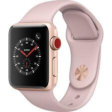 Apple Watch Series 3 38mm Gold Aluminum Case Pink Sand Band GPS+Cell MQJQ2LL/A