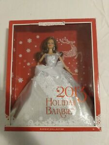 Mattel Barbie Collector 2013 Holiday Barbie 25th Anniversary Auburn Hair