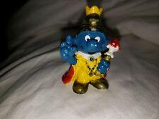 Smurfs Emperor Smurf King Crown 20046 Vintage Genuine Original Figurine GoldHead