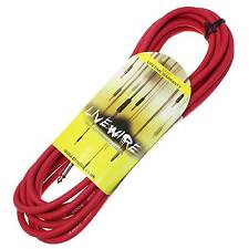 Livewire 6m Jack to Jack Guitar Lead - Red - Livewire Instrument Cable