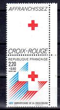 FRANCE TIMBRE CROIX ROUGE AVEC VIGNETTE 2555 ** MNH D 125ème ANNIVERSAIRE - 1988
