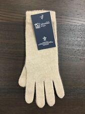 Women's Long Cashmere Gloves   Johnstons of Elgin   Made in Scotland   Cream