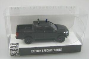 Busch 1:87,Ford Ranger Pick-up schwarz Polizei/ZOLL SEK-GSG9-SWAT Limited Neu