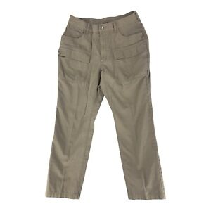 REI Pants Outdoor Hiking Tan Cargo Mens Size 33X30