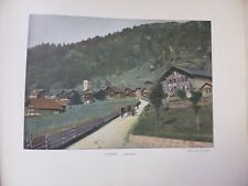 Suisse: Gravure 19° in folio couleur /Adelboden