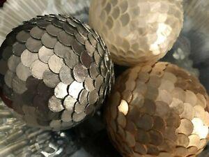 Gold / White / Silver Capiz Shell Decorative Ball / Sphere / Orb