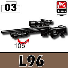 L96 (W109) Special Forces Sniper Rifle compatible with toy brick minifigures