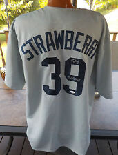 RARE DARRYL STRAWBERRY NEW YORK YANKEES AUTOGRAPH AUTHENTIC JERSEY AUTO JSA