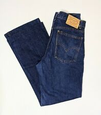 "VINTAGE LEVI'S 517 Dark Blue Jeans - bootleg Australian - 86W 89L (34"" waist)"