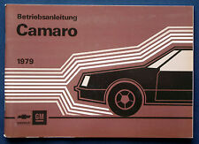 Owner's Manual * Betriebsanleitung 1979 Chevrolet Camaro (D)