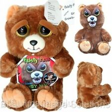 FEISTY PETS Brown Stuffed Bear Turns Feisty GROWLS with Squeeze BEST SELLING TOY