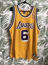 Vintage Champion Los Angeles Eddie Jones #6 Lakers Authentic Jersey 90s Rare 48