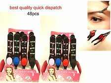 48PCS PROFESSIONAL DIAMANTE GRIPPY EYEBROW TWEEZERS HAIR BEAUTY TWEEZER GRIPPED