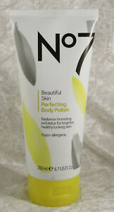 No 7 beautiful skin perfecting body polish 200ml shower   brand new