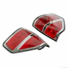 Chrome Trim Tail Lights Brake Light Red Len Pair For 2009-2014 Ford F150 F-150