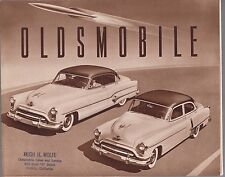 [60716] 1951 OLDSMOBILE CAR MODELS BROCHURE (ONTARIO, CALIFORNIA DEALER)