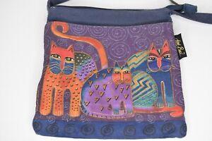 Laurel Burch Cat Lover Small Purse Feline Shoulder Crossbody Handbag Purple