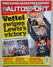 Autosport magazine 27th September 2012 - Singapore GP, Sebastian Vettel