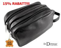 Dr. Dittmar echt Leder-Kulturtasche für Herren Kulturbeutel Kulturbox Gr. M