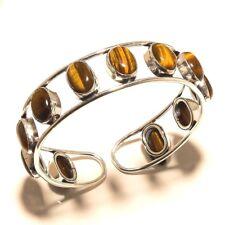 Tiger Eye Silver Plated Bangel Jewellery