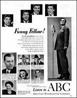 1950 Bert Parks Walter Winchell ABC Radio network vintage photo print ad  adL56