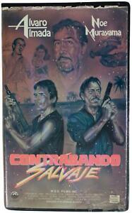 CONTRABANDO SALVAJE 1988 VHS VIDEO VTG 80s Mexican Drug Smuggling Crime Movie
