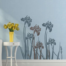 Wall stencil iris - Reusable stencil for easy wall Decor Better than decals