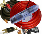 0 Gauge Power Only Amp Kit Amplifier Install Wiring Complete 1/0 Ga Cables 4000W