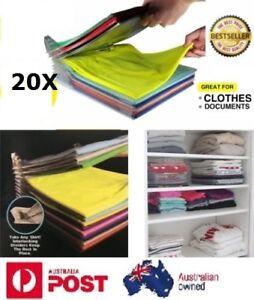 20X Clothes Organizer System Closet Drawer Office Desk File Cabinet Organization