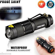 Super Bright Mini CREE LED Flashlight Torch Adjustable Focus Zoomable Light Lamp