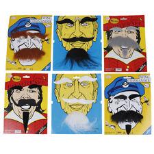 Halloween Costumes Self Adhesive Fake Beard Moustache Kit Facial Hair Cospla ~JP