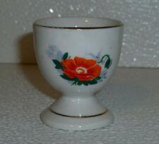 """Egg Cup Holder Orange Poppy Floral Pattern Easter Vtg 2"""""""