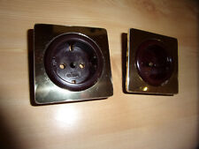 GIRA S-Komfort-Programm 2x Steckdosenabdeckung 551 mahagoni/gold - Set C -
