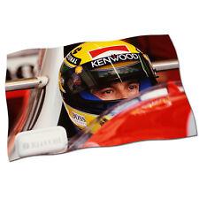 "Ayrton Senna Flag Banner 25"" NEW Formula 1 GP Honda McLaren Fabric Poster #4"