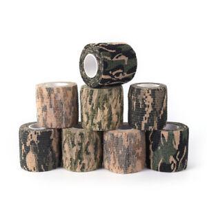 2x 4.5M Military Stretch Medical Bandage Camouflage Tape Self-Adhesive Gun DeM!