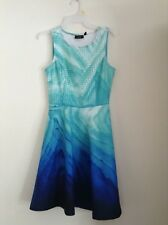 JUNIORS GIRLS SIZE 2 ROYAL BLUE/GREEN DRESS BY APT. 9 NWTS