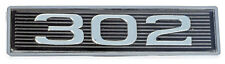 5.0 Liter 5.0L 302 Mustang Black & Chrome Plated Hood Scoop 3D Embossed Emblem