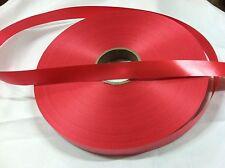 "Berwick Red Splendorette Poly Ribbon 1 1/4"" X 500 Yards, 8 mm"