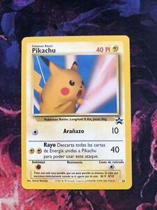 Pokemon Black Star Promo Spanish Pikachu #26 Collectible Card.