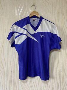 REEBOK 90s FOOTBALL SHIRT SOCCER JERSEY BLUE sz S MEN