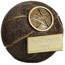 A1400A X 10 RESIN BASKETBALL TROPHIES  SIZE 6 CM FREE ENGRAVING