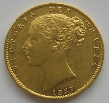 1857 VICTORIA SOVEREIGN FROM R.M.S DOURO  CERTIFICATE EF/AU