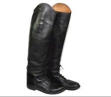 Black Leather Riding Boots Equestrian Bond Boot Co Womens 8 1/2 Slim Calf Tall