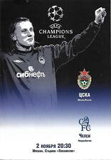 Football Programme>CSKA MOSCOW v CHELSEA Nov 2004 UCL IN MOSCOW