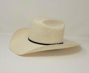 RESISTOL ATWORTH 100X STRAW COWBOY WESTERN HAT